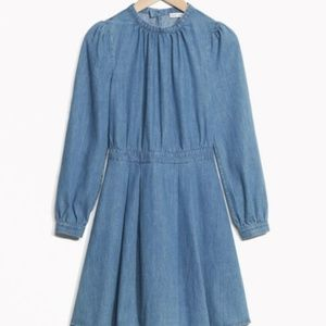 & Other Stories Fitted Waist Denim Dress